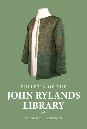 Bulletin of the John Rylands Library has published research that complements the Library's special collections